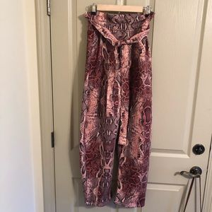 Urban Outfitters pink snakeskin pants - size 2